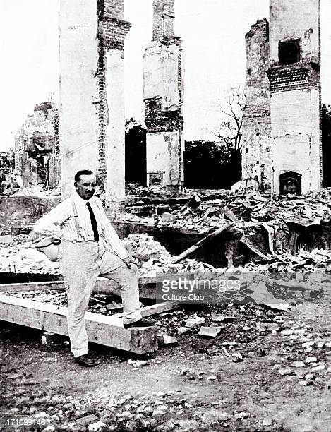 Paul Claudel portrait of the French ambassador to Japan among the ruins of the French embassy in Tokyo after the earthquake of 1 September 1923 PC 6...