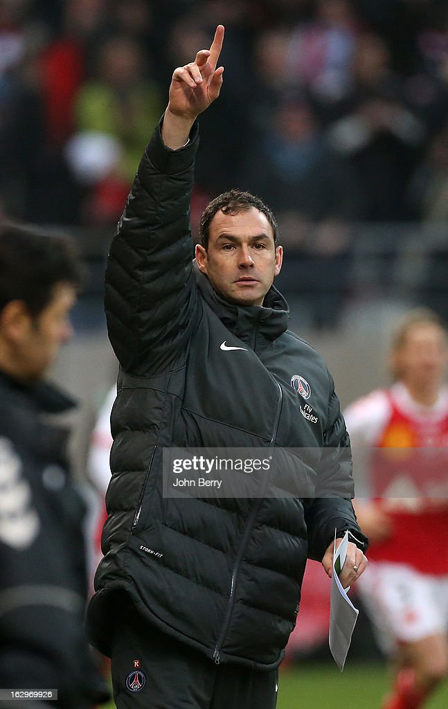 Paul Clement, assistant-coach of PSG during the french Ligue 1 match between Stade de Reims Champagne FC and Paris Saint-Germain FC at the Stade Auguste Delaune on March 2, 2013 in Reims, France.