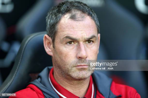 Paul Clement manager / head coach of Swansea City during the Carabao Cup Second Round match between Milton Keynes Dons and Swansea City at StadiumMK...
