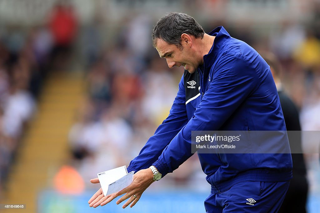 Paul Clement, Manager of Derby County during the Pre-Season Friendly match between Northampton Town and Derby County at Sixfields Stadium on July 18, 2015 in Northampton, England.