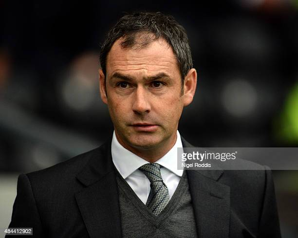 Paul Clement manager of Derby County during the Sky Bet Championship match between Derby County and Middlesbrough at Pride Park Stadium on August 18...