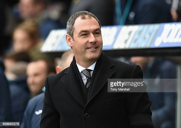 Paul Clement Manager of Swansea City during the Premier League match between Swansea City and Arsenal at Liberty Stadium on January 14 2017 in...