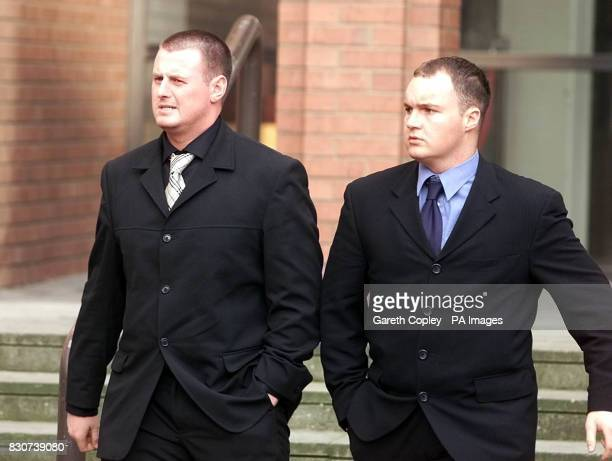 Paul Clifford and Neale Caveney both 22 of Middlesbrough at Hull Crown Court who together with Leeds United star Lee Bowyer of Leeds his teammate...