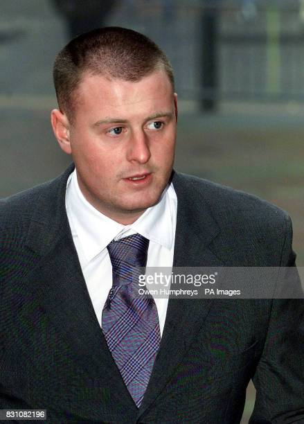 Paul Clifford arrives at Hull Crown Court where he is accused along with Leeds United footballers Lee Bowyer and Jonathan Woodgate and Neale Caveney...