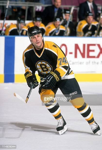 Paul Coffey of the Boston Bruins skates on the ice during an NHL game circa 2000