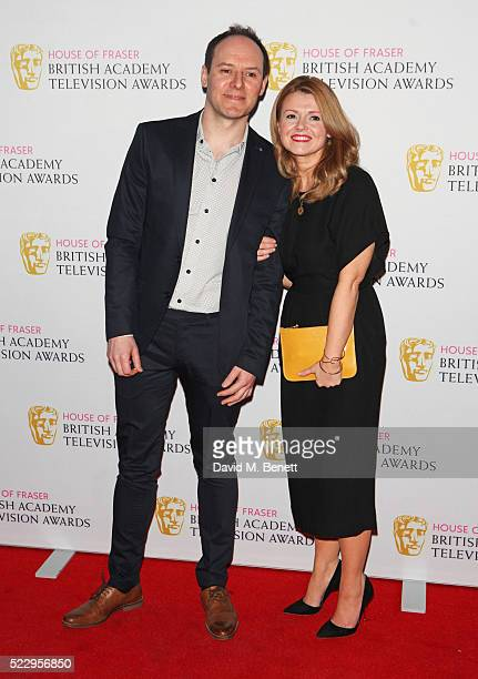 Paul Coleman and Sian Gibson attend the House of Fraser British Academy Television and Craft nominees party at Mondrian London on April 21 2016 in...