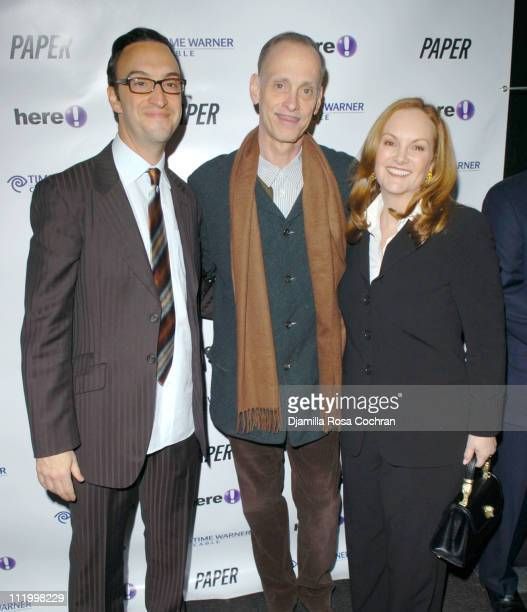 Paul Colichman John Waters and Patricia Hearst during 'John Waters Presents Movies That Will Corrupt You' Launch Party at Happy Valley in New York...
