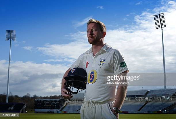 Paul Collingwood of Durham poses for a photograph during the Durham County Cricket Club photocall at the Riverside on April 8 2016 in ChesterLeStreet...