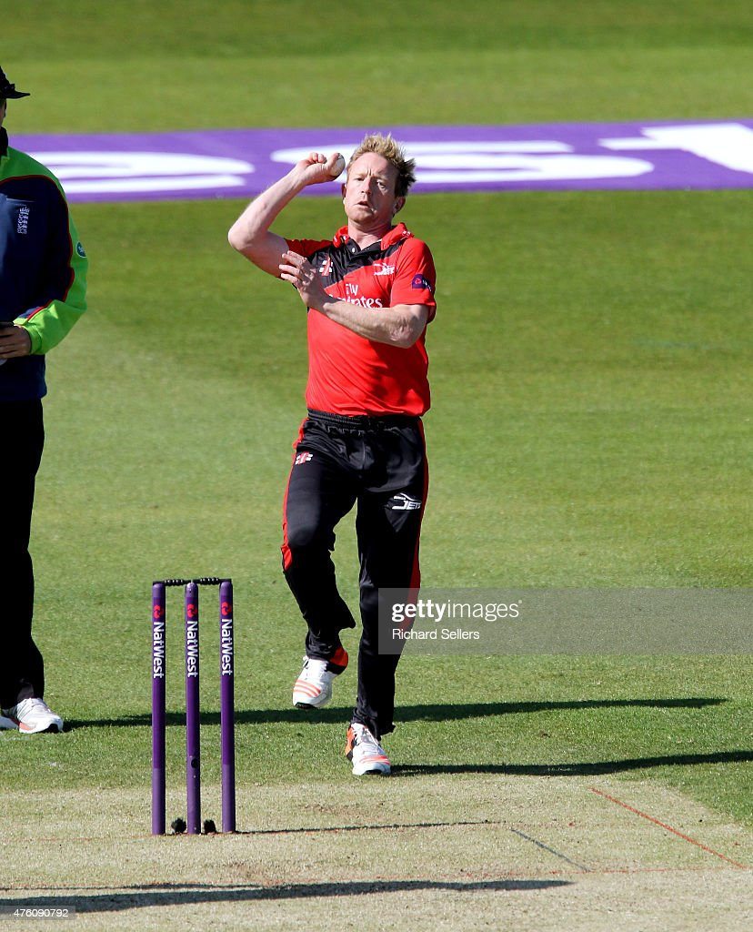 Paul Collingwood of the Durham Jets in action during the NatWest T20 Blast between Durham Jets and Birmingham Bears at Emirates Durham ICG on June 06...