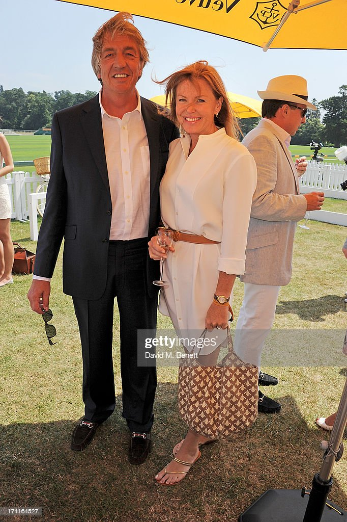 Paul Cook (L) attends the Veuve Clicquot Gold Cup Final at Cowdray Park Polo Club on July 21, 2013 in Midhurst, England.