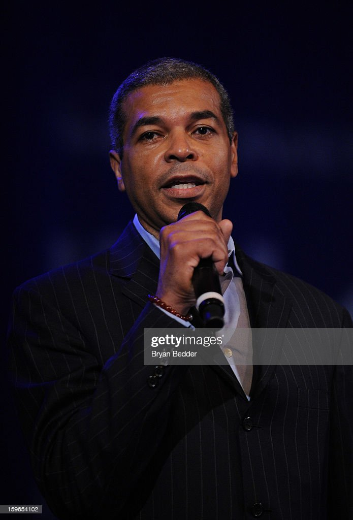 Paul Cothran speaks at VH1 Save The Music Foundation's Songwriters Music Series Remix featuring Swizz Beatz & Friends, presented by Monster DNA Headphones & William Hill Estate Winery at Hard Rock Cafe New York on January 17, 2013 in New York City.