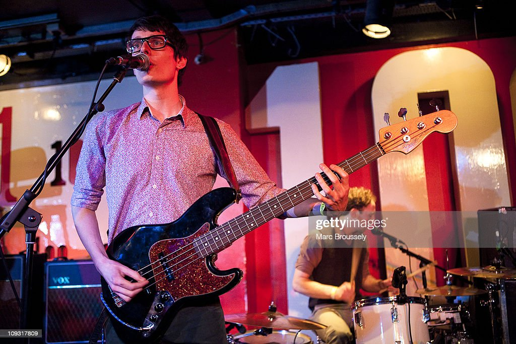 Paul Cousins and James Woodley of Foreign Office perform during Shockwaves NME Awards Show at The 100 Club on February 20, 2011 in London, England.