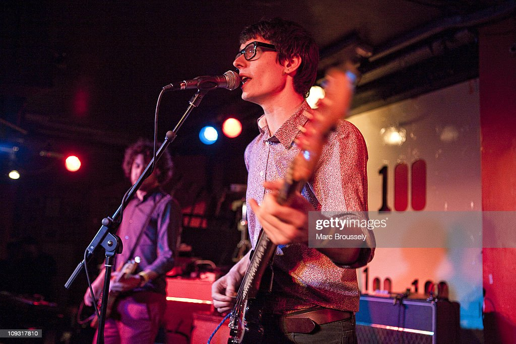 Paul Cousins of Foreign Office performs during Shockwaves NME Awards Show at The 100 Club on February 20, 2011 in London, England.