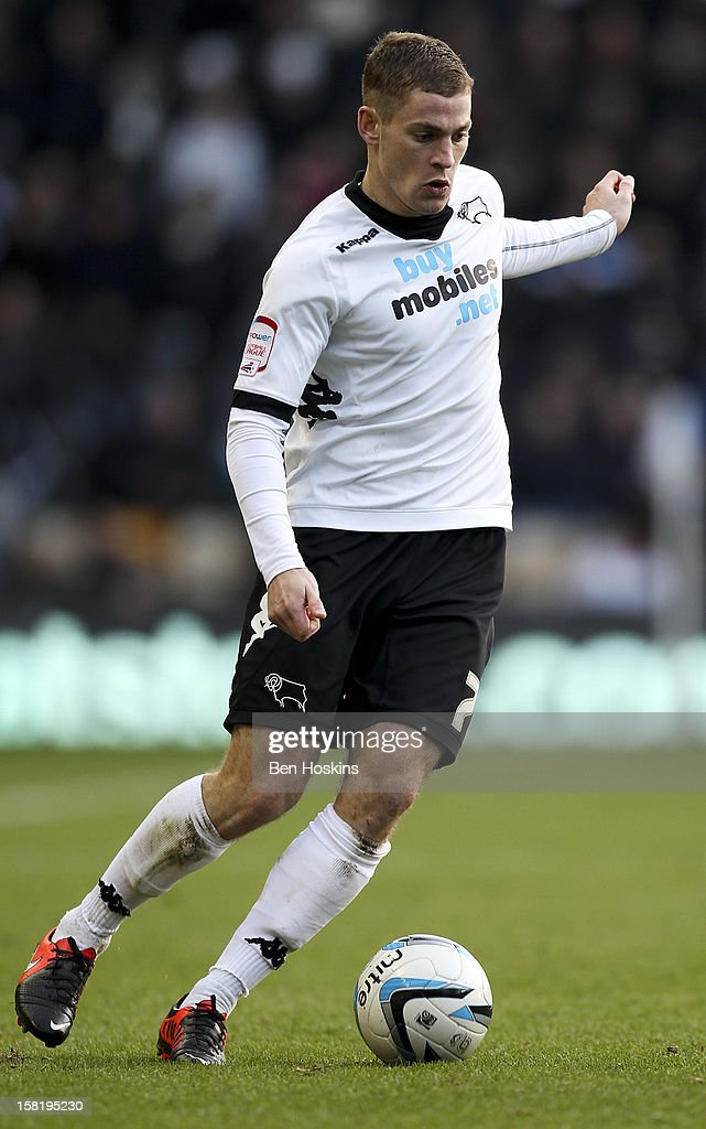Paul Coutts of Derby in action during the npower Championship match between Derby County and Leeds United at Pride Park on December 8, 2012 in Derby, England.