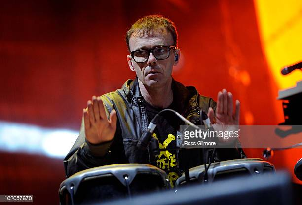 Paul Daley of Leftfield performs on stage on the second day of Rockness Festival at Dores Loch Ness on June 12 2010 in Inverness Scotland