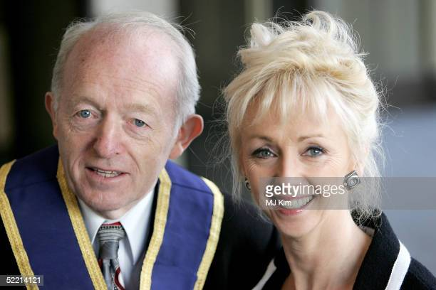 Paul Daniels and Debbie McGee arrives at the 'Norman At Ninety' Tribute Luncheon at the Royal Lancaster Hotel on February 18 2005 in London Members...