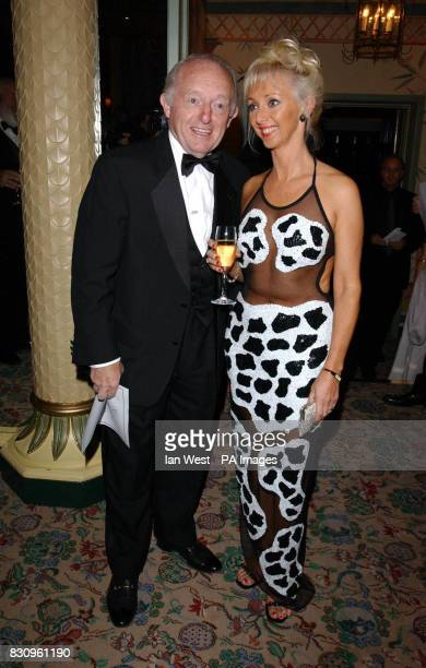 Paul Daniels with his wife Debbie Magee during a reception prior to the Variety Club's Tribute Dinner for lyricist Don Black at The Dorchester in...