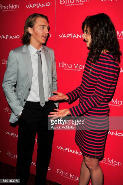 Paul Dano and Katie Holmes attend Vapiano hosts the New York Premiere of THE EXTRA MAN red carpet arrivals and afterparty at Village East Cinema and...
