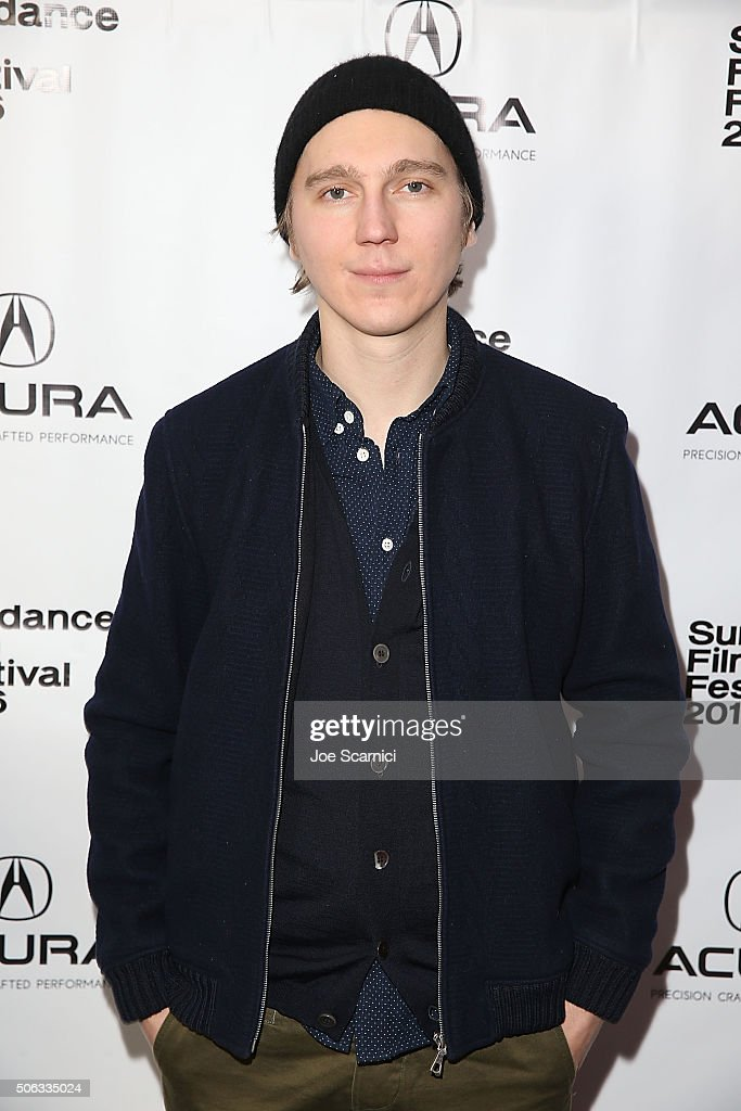 Paul Dano arrives at the 'Swiss Army Man' Premiere Party at The Acura Studio at Sundance Film Festival 2016 on January 22 2016 in Park City Utah