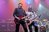 Paul Dean and Ken Sinnaeve of Loverboy perform in concert at the Cedar Park Center on October 22 2015 in Cedar Park Texas