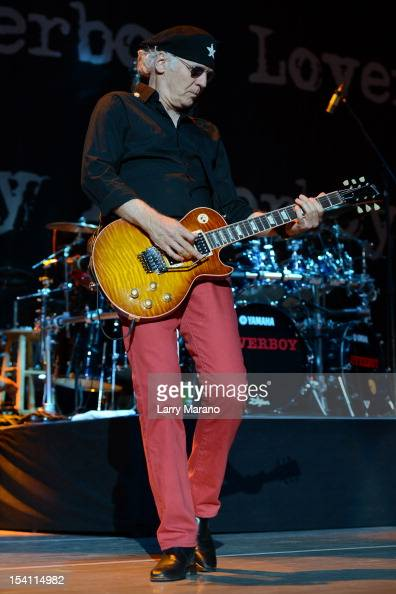 Paul Dean of Loverboy performs at Cruzan Amphitheatre on October 13 2012 in West Palm Beach Florida