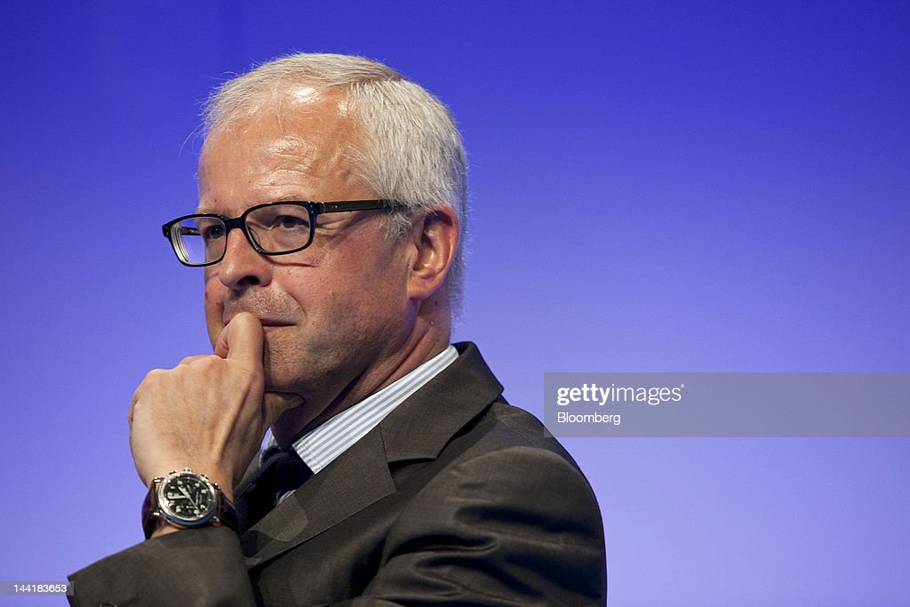 Paul Delaoutre managing director of Galeries Lafayette pauses during the Global Department Store Summit in Paris France on Friday May 11 2012 The...