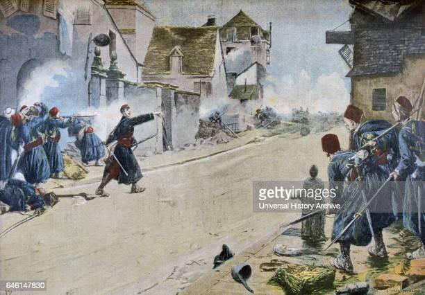 Paul Deroulede at the Battle of Montbeliard Painting by ErnestJean Delahaye Salon de 1899 Paul Deroulede a la bataille de Montbeliard Tableau de...