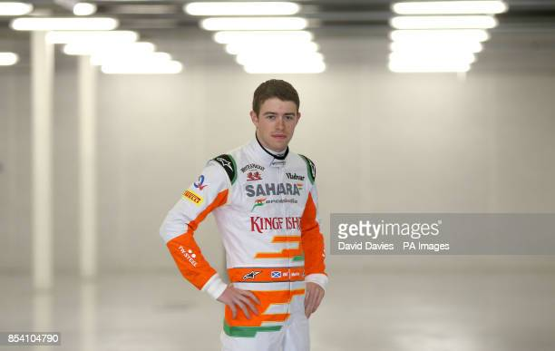 Paul Di Resta during the Force India Launch at Silverstone Circuit Northampton