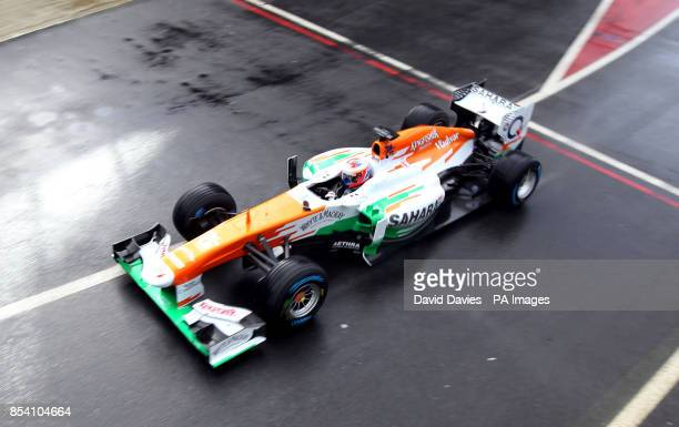 Paul Di Resta in the new Force India VJM06 during the Force India Launch at Silverstone Circuit Northampton