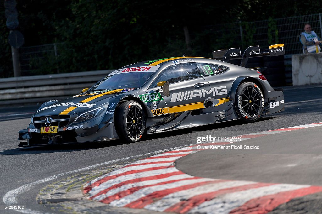 Paul di Resta (SCO) of DTM Team Mercedes AMG during a free practice session at the Norisring during Day 1 of the German Touring Car Championship 2016 - Session 4 on June 24, 2016 in Nuremberg, Germany.