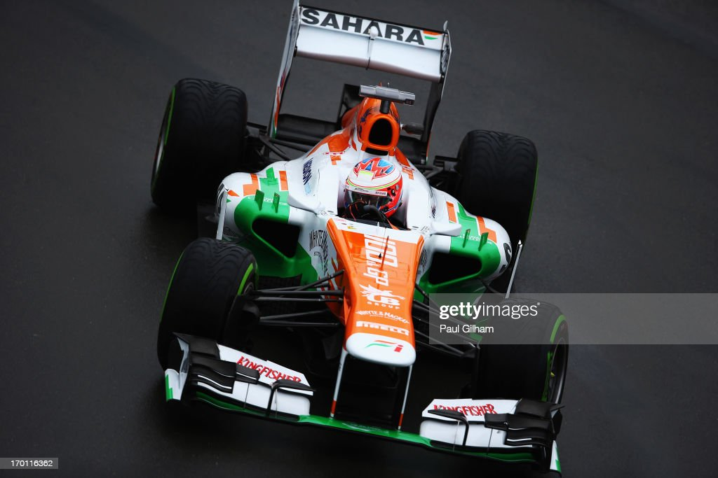 Paul di Resta of Great Britain and Force India drives during practice for the Canadian Formula One Grand Prix at the Circuit Gilles Villeneuve on June 7, 2013 in Montreal, Canada.