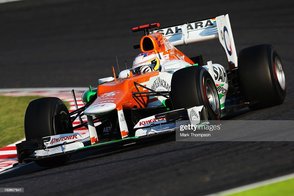 Paul di Resta of Great Britain and Force India drives during the Japanese Formula One Grand Prix at the Suzuka Circuit on October 7, 2012 in Suzuka, Japan.