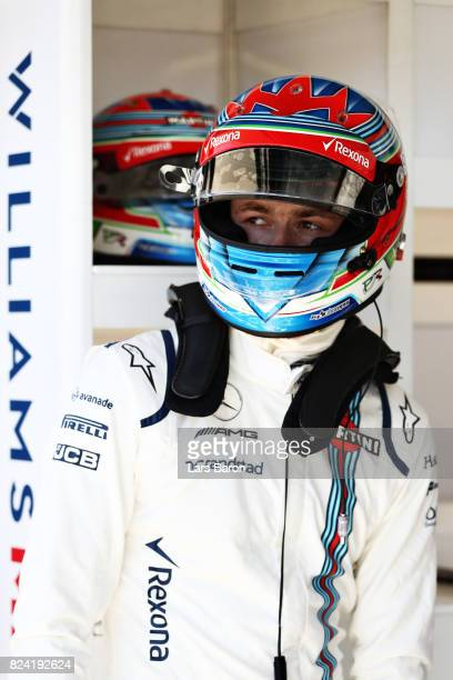 Paul di Resta of Great Britain and Williams prepares to drive during qualifying for the Formula One Grand Prix of Hungary at Hungaroring on July 29...