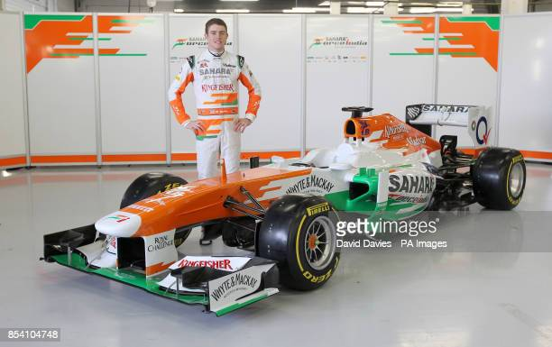 Paul Di Resta with the new Force India VJM06 during the Force India Launch at Silverstone Circuit Northampton