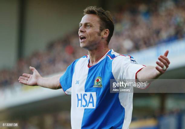 Paul Dickov of Blackburn Rovers appeals during the Barclays Premiership match between Blackburn Rovers and Portsmouth at Ewood Park on September 18...