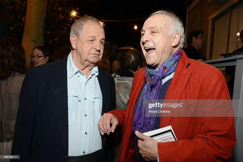 <a gi-track='captionPersonalityLinkClicked' href=/galleries/search?phrase=Paul+Dooley&family=editorial&specificpeople=603577 ng-click='$event.stopPropagation()'>Paul Dooley</a> and Lawrence Pressman attend the opening night of 'Assisted Living' at The Odyssey Theatre on April 5, 2013 in Los Angeles, California.