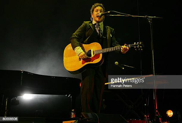 Paul Doucette of Matchbox 20 performs on stage at Vector Arena on April 8 2008 in Auckland New Zealand