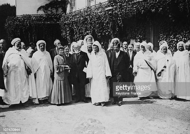 Paul Doumer And The Sultan Of Morocco In Rambouillet On August 16Th 1931