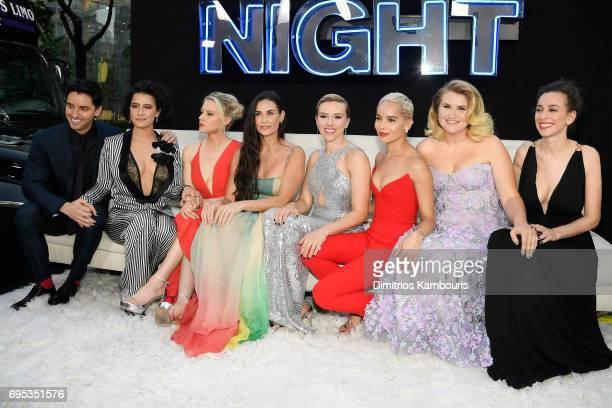 Paul Downs Ilana Glazer Kate McKinnon Demi Moore Scarlett Johansson Zoe Kravitz Jillian Bell and Lucia Aniello attend the 'Rough Night' premeire at...