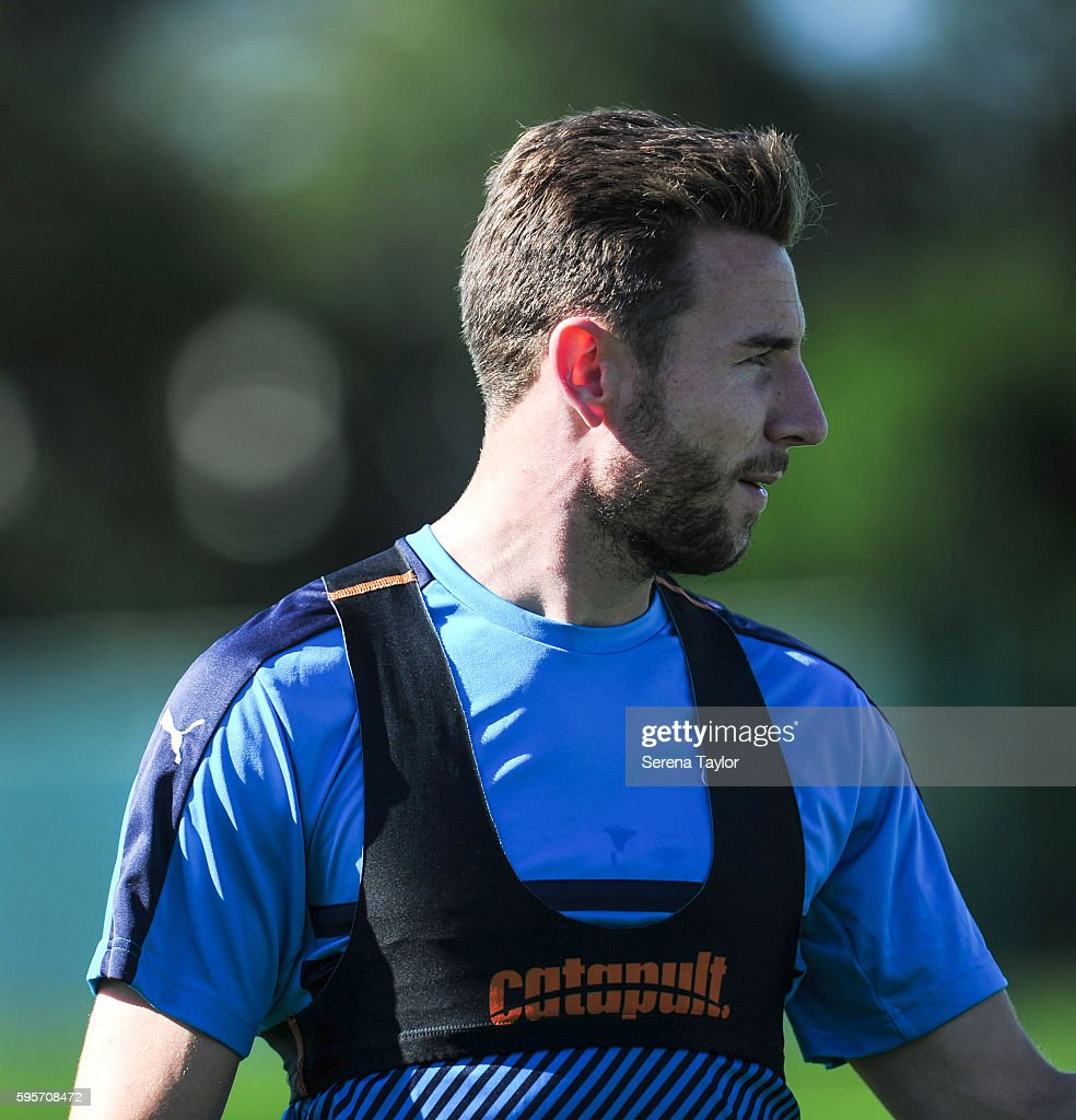 Paul Dummett during the Newcastle United Training Session at The Newcastle United Training Centre on August 26 in Bristol England