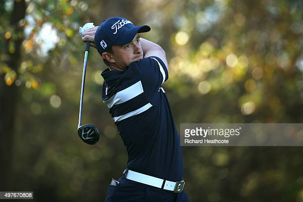 Paul Dunne of Ireland in action during the fifth round of the European Tour Qualifying School Final at PGA Catalunya Resort on November 18 2015 in...