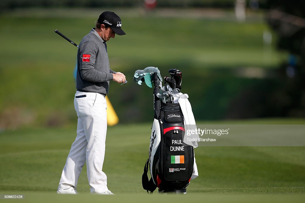 <a gi-track='captionPersonalityLinkClicked' href=/galleries/search?phrase=Paul+Dunne&family=editorial&specificpeople=5481664 ng-click='$event.stopPropagation()'>Paul Dunne</a> of Ireland prepares to play a shot from the fairway on the sixth hole during the second round of the AT&T Pebble Beach National Pro-Am at the Pebble Beach Golf Links on February 12, 2016 in Pebble Beach, California.