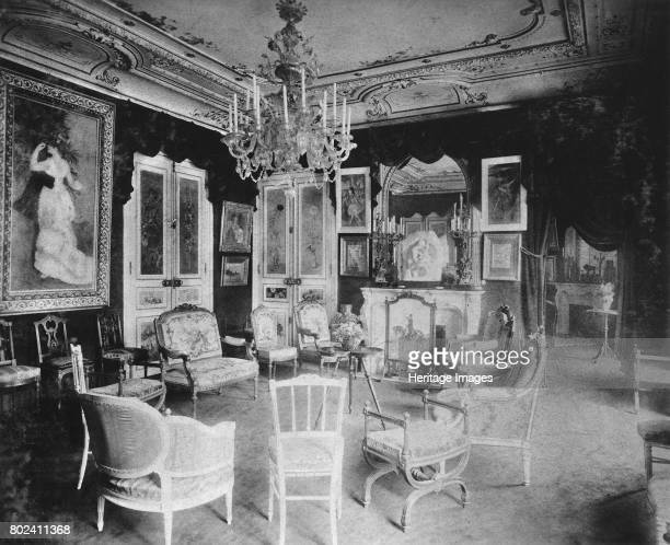 Paul DurandRuel's Grand salon at Rue de Rome with Dance in the City by Renoir circa 19001910 Found in the collection of Archives DurandRuel
