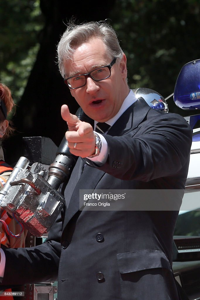 <a gi-track='captionPersonalityLinkClicked' href=/galleries/search?phrase=Paul+Feig&family=editorial&specificpeople=2367893 ng-click='$event.stopPropagation()'>Paul Feig</a> attends 'Ghostbusters' Photocall on June 27, 2016 in Rome, Italy.