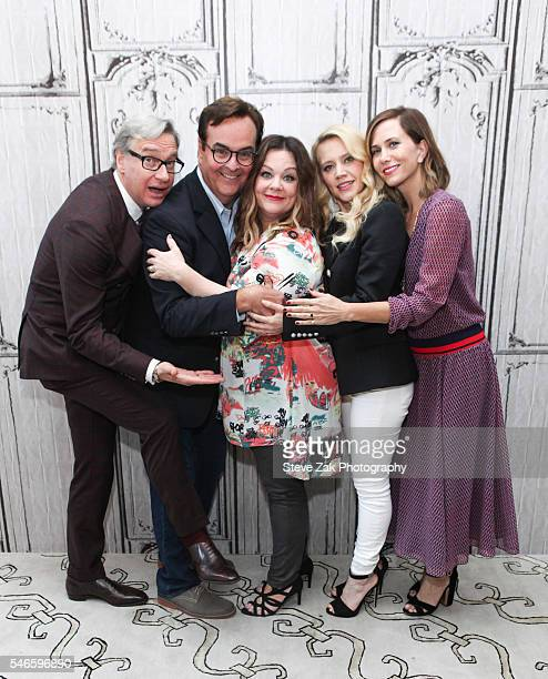 Paul Feig Steve Higgins Melissa McCarthy Kate McKinnon and Kristen Wiig attend AOL Build Speaker Series 'Ghostbusters' at AOL HQ on July 12 2016 in...