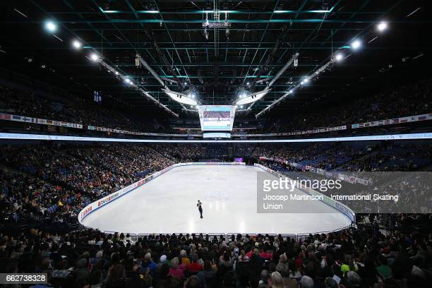 Paul Fentz of Germany competes in the Men's Free Skating during day four of the World Figure Skating Championships at Hartwall Arena on April 1 2017...
