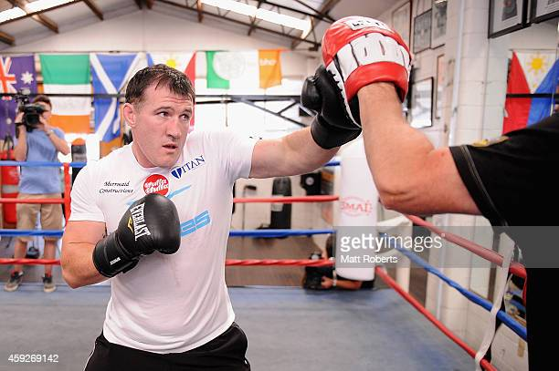 Paul Gallen during a sparring session at Fortitude Boxing on November 20 2014 in Brisbane Australia