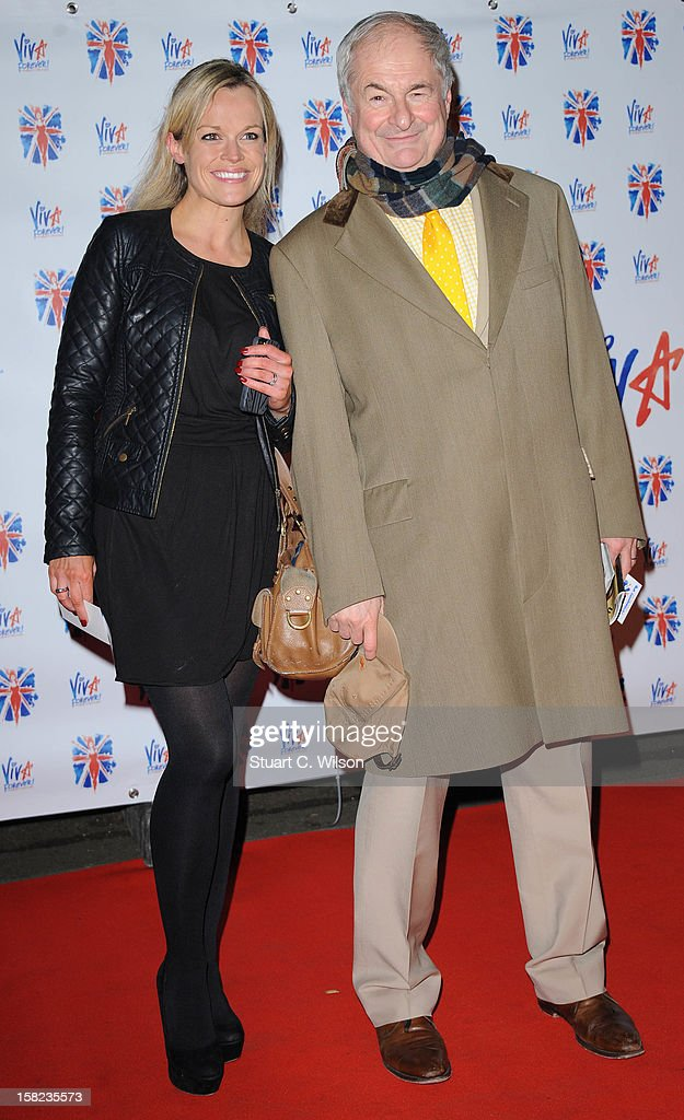 Paul Gambaccini (R) attends the after party for the press night of 'Viva Forever', a musical based on the music of The Spice Girls at Victoria Embankment Gardens on December 11, 2012 in London, England.