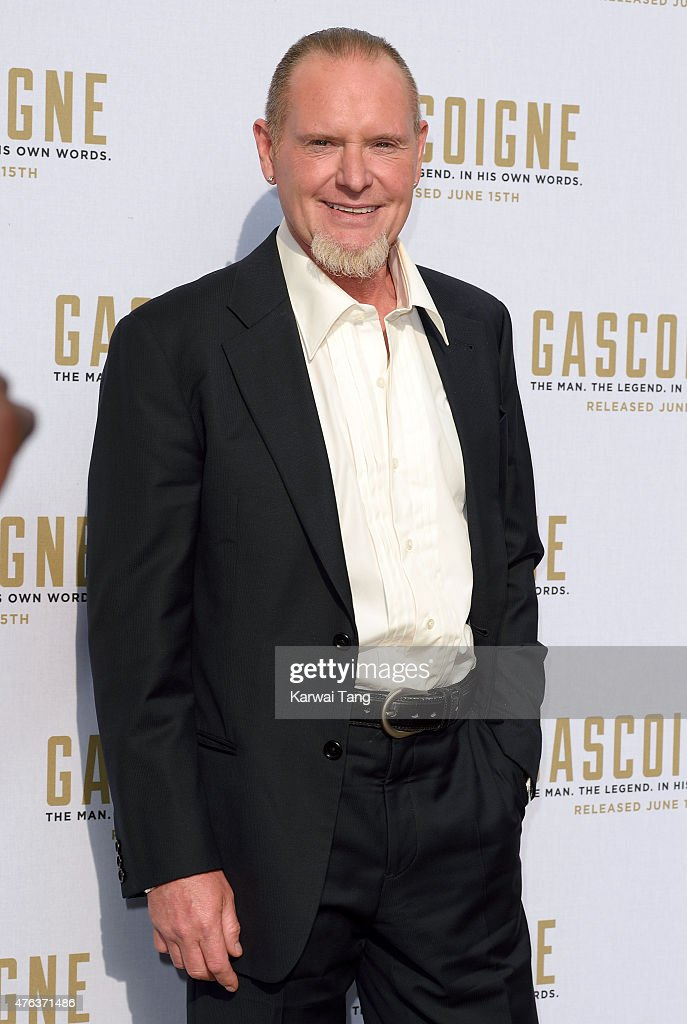 <a gi-track='captionPersonalityLinkClicked' href=/galleries/search?phrase=Paul+Gascoigne&family=editorial&specificpeople=211121 ng-click='$event.stopPropagation()'>Paul Gascoigne</a> attends the Premiere of 'Gascoigne' at Ritzy Brixton on June 8, 2015 in London, England.
