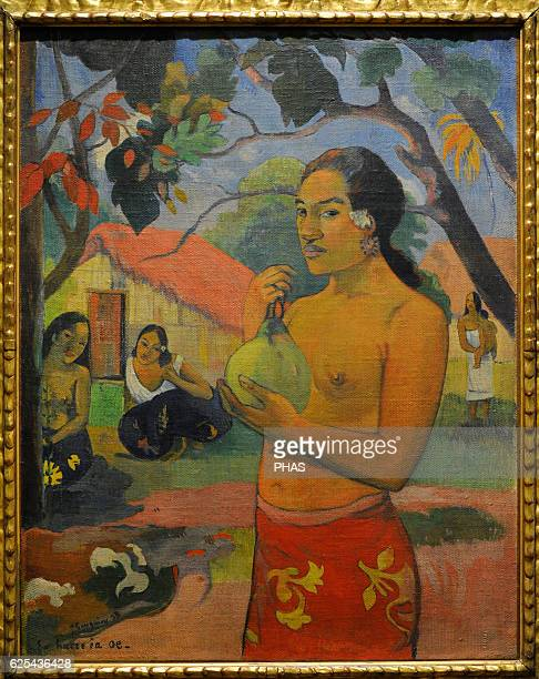 Paul Gauguin French painter Where are you going Woman holding a fruit 1893 Oil on canvas The State Hermitage Museum Saint Petersburg Russia